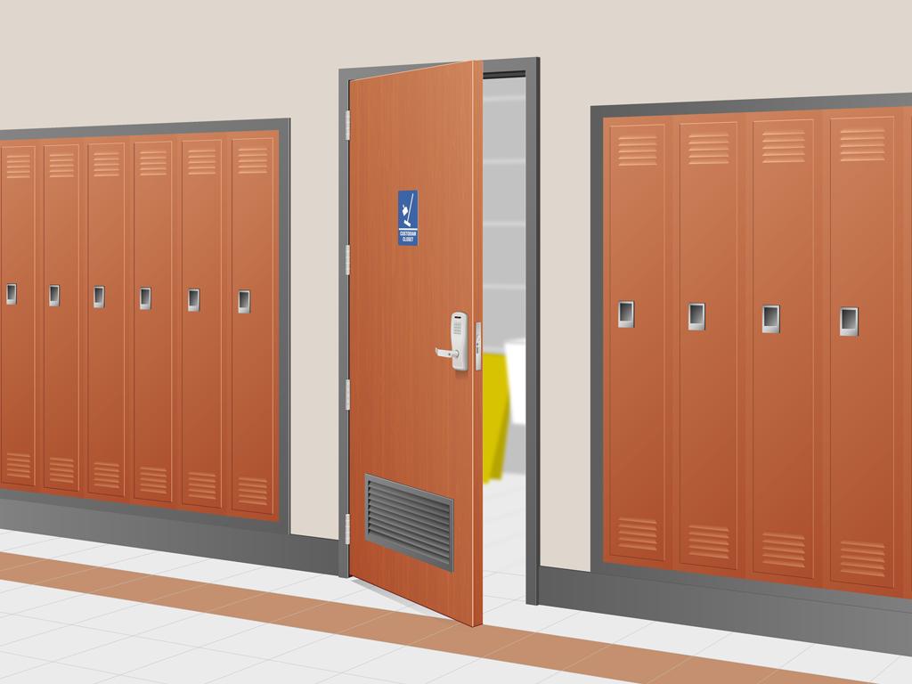 Allegion | Storage Closet Security System Illustration