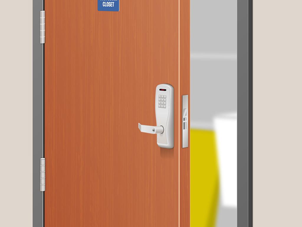 Allegion | Storage Closet Security System Detail
