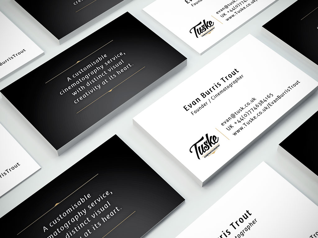 Tuske Cinematography | Business Card